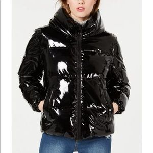 Kendall & Kylie shiny water resistant puffer jkt